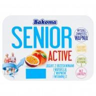 Bakoma Senior Active Jogurt z brzoskwiniami i marakują z wapniem i witaminą D 130 g