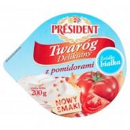 Président Twaróg Delikatny z pomidorami 200 g