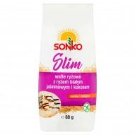 Sonko Slim Wafle ryżowe z ryżem białym jaśminowym i kokosem 88 g