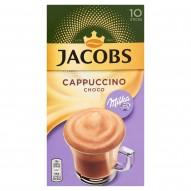 Jacobs Cappuccino Choco Milka Rozpuszczalny napój kawowy o smaku czekolady 180 g (10 x 18 g)
