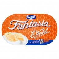 Danone Fantasia Karmellove! Jogurt kremowy z kawałkami czekolady białej karmelowej 104 g