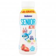 Bakoma Senior Active Jogurt z truskawkami oraz z wapniem i witaminą D 230 g