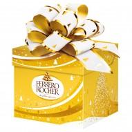 Ferrero Rocher Chrupiący wafelek z kremowym nadzieniem i orzechem laskowym w czekoladzie 75 g