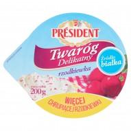 Président Twaróg Delikatny z rzodkiewką 200 g