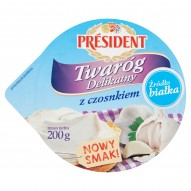 Président Twaróg Delikatny z czosnkiem 200 g