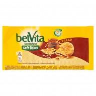 belVita Breakfast Ciastka zbożowe z nadzieniem o smaku czekoladowo-orzechowym 50 g