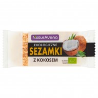 NaturAvena Ekologiczne sezamki z kokosem 27 g