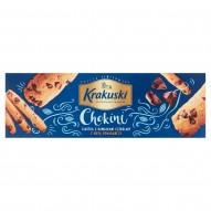 Krakuski Chokini Ciastka z kawałkami czekolady z nutą pomarańczy 125 g