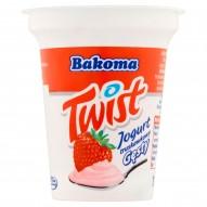 Bakoma Twist Jogurt truskawkowy gęsty 135 g