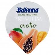 Bakoma Premium Exotic Jogurt z mango i papają 140 g