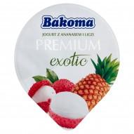 Bakoma Premium Exotic Jogurt z ananasem i liczi 140 g