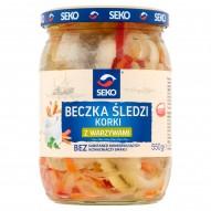 Seko Beczka śledzi Korki z warzywami 550 g