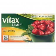 Vitax Family Herbatka owocowo-ziołowa żurawina 48 g (24 x 2 g)