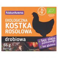 NaturAvena Ekologiczna kostka rosołowa drobiowa 66 g (6 x 11 g)