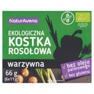 NaturAvena Ekologiczna kostka rosołowa warzywna 66 g (6 x 11 g)