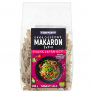 NaturAvena Ekologiczny makaron żytni pełnoziarnisty tagliatelle 250 g