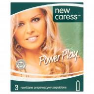 New Caress Power Play Nawilżane prezerwatywy pogrubione 3 sztuki