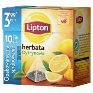 Lipton Cytrynowa Herbata czarna 17 g (10 torebek)