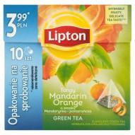 Lipton o smaku Mandarynka i pomarańcza Herbata zielona aromatyzowana 18 g (10 torebek)