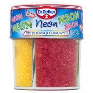 Dr. Oetker Neon Mix dekoracji cukrowych 100 g