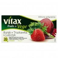 Vitax Fruits & Vege Burak & Truskawka & Lubczyk Herbatka owocowo-ziołowa 40 g (20 torebek)