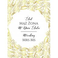 Karnet ślub złoty