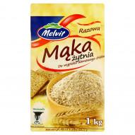 Melvit Mąka żytnia razowa do wypieku domowego chleba 1 kg