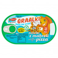 GRAAL Graalki Smaczne rybki Fileciki z makreli w sosie pomidorowym a'la pizza 100 g