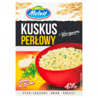 Melvit Kuskus perłowy z warzywami 320 g (4 x 80 g)