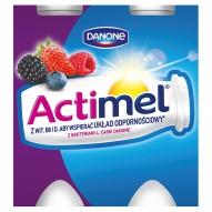 Danone Actimel Owoce leśne z truskawkami Mleko Fermentowane 400 g (4 sztuki)