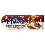 Bakoma Mikuś Krem z czekoladą orzechami miodem i z paluszkami chlebowymi 25 g