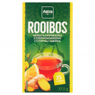Astra Rooibos Herbata ekspresowa Rooibos z cytryną i imbirem 37,5 g (25 x 1,5 g)