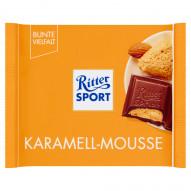 Ritter Sport Czekolada mleczna z musem maślano-karmelowym i kawałkami solonych migdałów 100 g