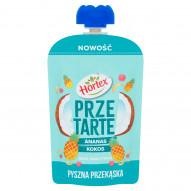 Hortex Przetarte Premium mus owocowy jabłko banan kokos ananas cytryna 100 g