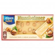 Alpen Gold Nussbeisser Czekolada biała z całymi orzechami 100 g