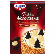 Dr. Oetker Boże Narodzenie Dekoracje z czekolady deserowej i białej 25 g (18 sztuk)