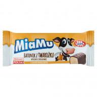 Mlekovita MiaMu Batonik z twarożku w polewie czekoladowej o smaku waniliowym 40 g