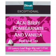 Dilmah Exceptional Czarna cejlońska herbata z aromatem jagód acai granatu wanilii 40 g (20 torebek)