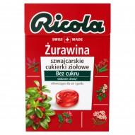 Ricola Żurawina szwajcarskie cukierki ziołowe 40 g