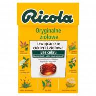 Ricola Oryginalne ziołowe szwajcarskie cukierki ziołowe 40 g