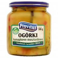 Provitus Ogórki kanapkowe musztardowe 500 g