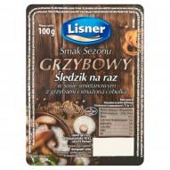 Lisner Smak Sezonu Grzybowy Śledzik na raz w sosie śmietanowym z grzybami i smażoną cebulką 100 g