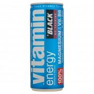 Black Vitamin Energy Magnesium & Vit. B6 Gazowany napój energetyzujący 250 ml