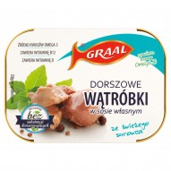 GRAAL Dorszowe wątróbki w sosie własnym 110 g