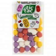 Tic Tac Emotions Edition Drażetki o smaku cytryny-żurawiny-czarnej borówki-mango-gujawy 18 g