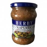 Herby Kapusta kwaszona zasmażana z grzybami 500g
